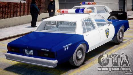 Chevrolet Impala Police 1983 for GTA 4 upper view