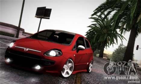 Fiat Punto Evo 2010 Edit for GTA San Andreas inner view