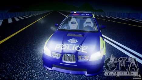 Subaru Impreza WRX Police [ELS] for GTA 4 interior