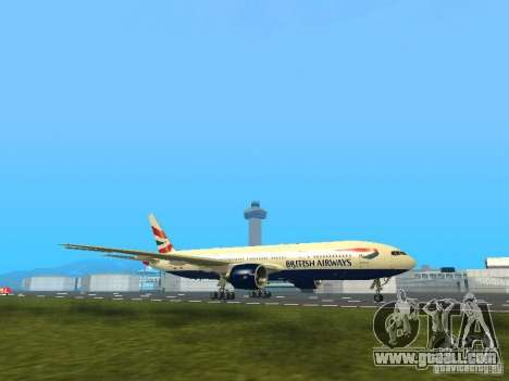 Boeing 777-200 British Airways for GTA San Andreas left view