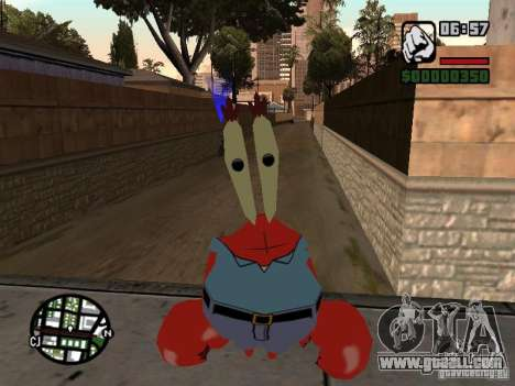 Mr. Krabs for GTA San Andreas second screenshot