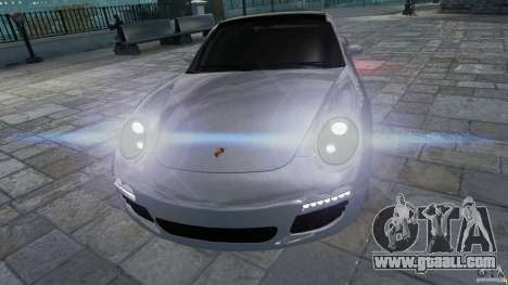 Porsche Targa 4S 2009 for GTA 4 back view
