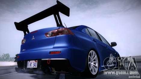 Mitsubishi Lancer Evolution X Tunable for GTA San Andreas left view
