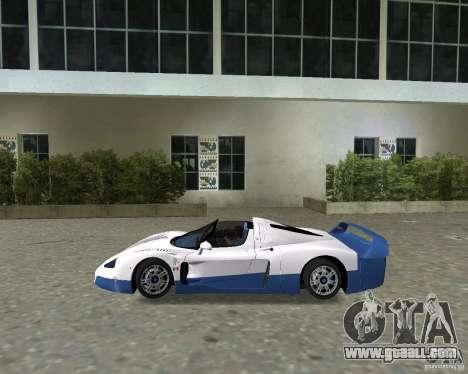 Maserati MC12 for GTA Vice City right view