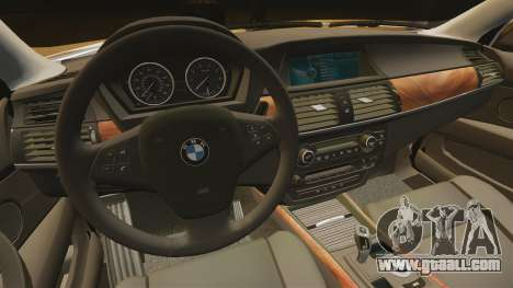 BMW X5M for GTA 4 inner view