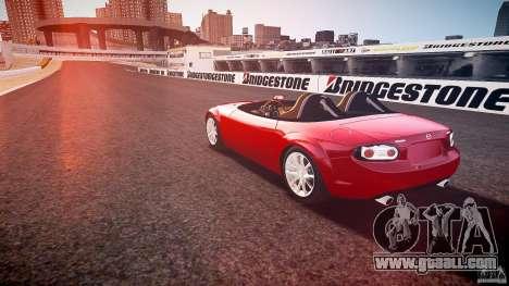 Mazda Miata MX5 Superlight 2009 for GTA 4 back left view