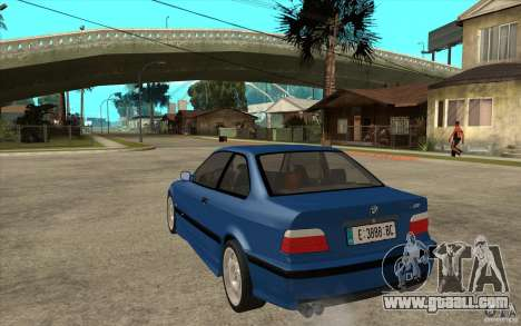 BMW M3 E36 1997 for GTA San Andreas back left view