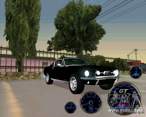 Ford Mustang Fastback for GTA San Andreas back left view