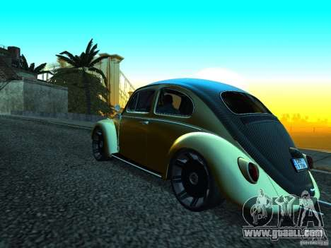 Volkswagen Fusca 1966 Tuning for GTA San Andreas right view