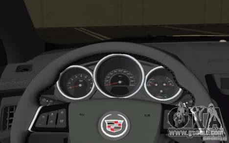 Cadillac CTS-V Coupe for GTA Vice City upper view