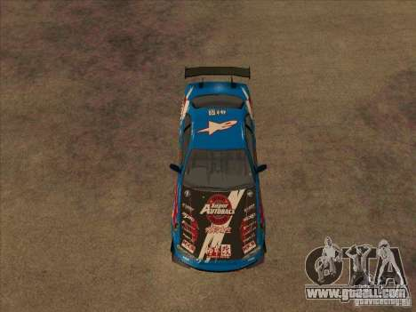 Nissan Skyline GT-R R34 Super Autobacs for GTA San Andreas back view