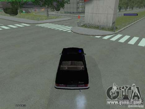 Volga FEDERAL for GTA San Andreas back view