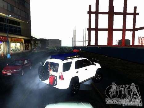 Toyota 4Runner 4X4 for GTA San Andreas back left view