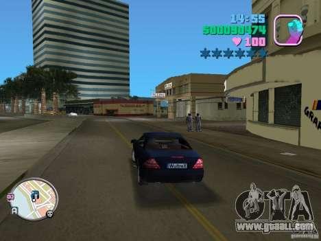 Mercedes-Benz E350 for GTA Vice City right view