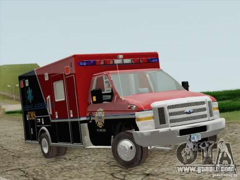 Ford E-350 AMR. Bone County Ambulance for GTA San Andreas left view