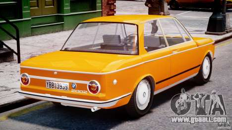 BMW 2002 1972 for GTA 4 upper view
