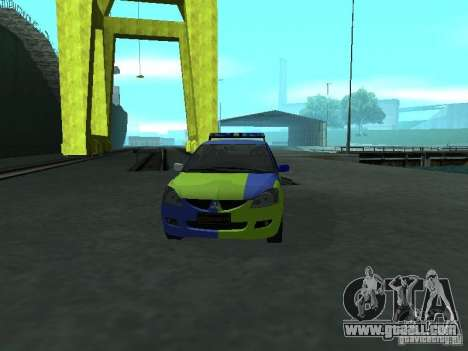 Mitsubishi Lancer Police for GTA San Andreas inner view