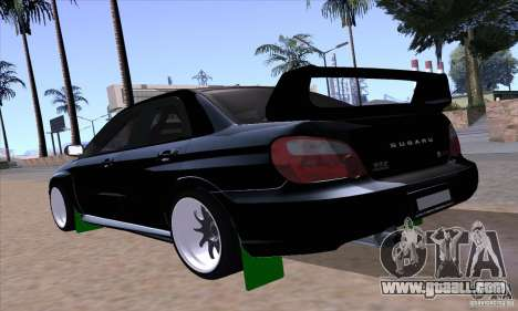 Subaru Impresa WRX light tuning for GTA San Andreas left view