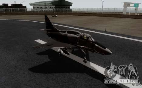 McDonnell Douglas A-4AR Fightinghawk for GTA San Andreas back left view