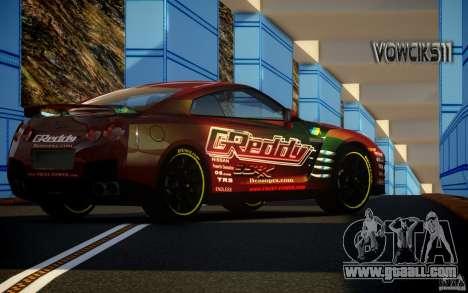 Nissan GT-R Black Edition GReddy for GTA 4 left view