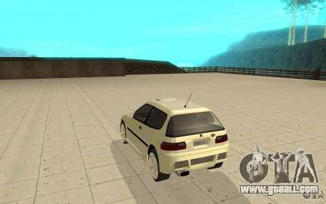 Honda Civic 1992 for GTA San Andreas back left view