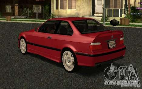 BMW E36 M3 1997 Coupe Forza for GTA San Andreas back left view