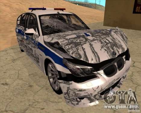 BMW M5 E60 DPS for GTA San Andreas interior