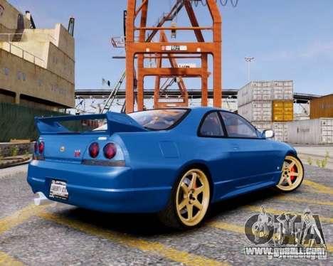 Nissan Skyline R33 GTR V-Spec for GTA 4 left view