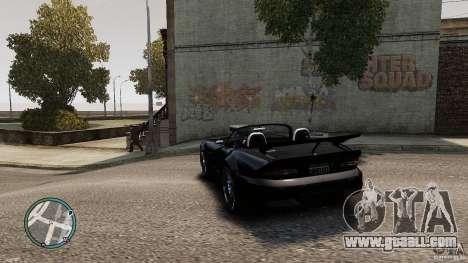 Blue Neon Banshee for GTA 4 back left view