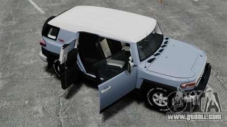 Toyota FJ Cruiser for GTA 4 upper view
