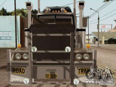 Western Star 4900 Aust for GTA San Andreas inner view