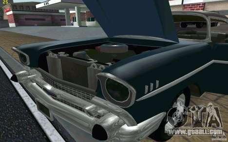 Chevrolet Bel Air 1957 for GTA San Andreas inner view