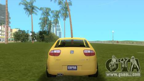 Seat Leon Cupra R for GTA Vice City right view
