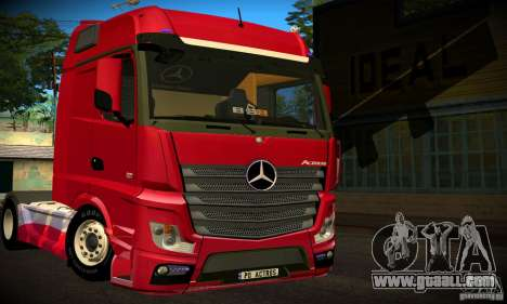 Mercedes-Benz Actros 2012 for GTA San Andreas back left view