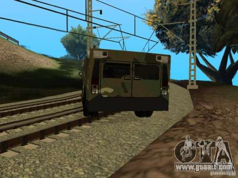 Hummer H2 Army for GTA San Andreas left view