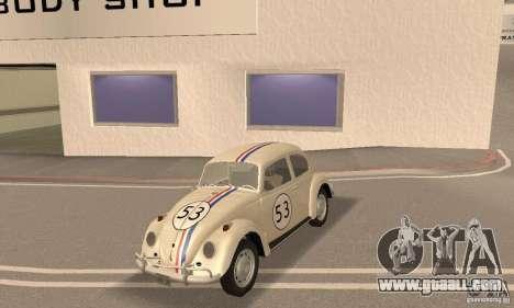 Volkswagen Beetle 1963 for GTA San Andreas side view