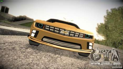 Chevrolet Camaro SS Transformers 3 for GTA San Andreas inner view