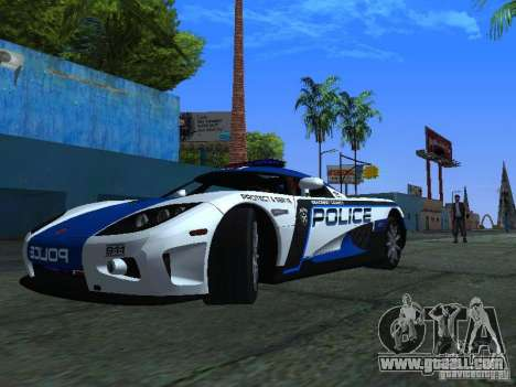 Koenigsegg CCX Police for GTA San Andreas left view