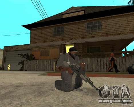 AK47 with the standard optical sight for GTA San Andreas second screenshot