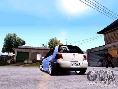 Volkswagen Golf MK4 for GTA San Andreas back left view