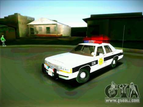 Ford Crown Victoria LTD 1991 HILL-VALLEY Police for GTA San Andreas