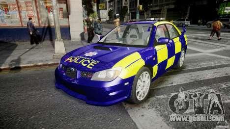 Subaru Impreza WRX Police [ELS] for GTA 4
