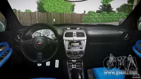 Subaru Impreza v2 for GTA 4 inner view