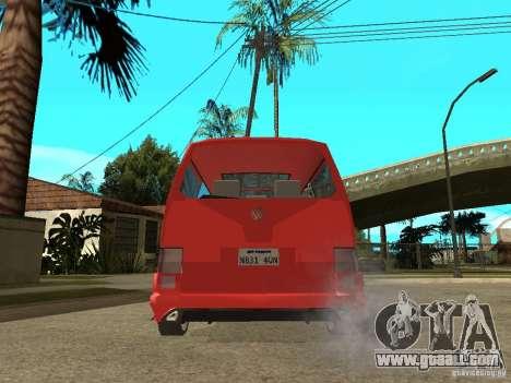VW T4 Eurovan VR6 BiTurbo 20T for GTA San Andreas back left view