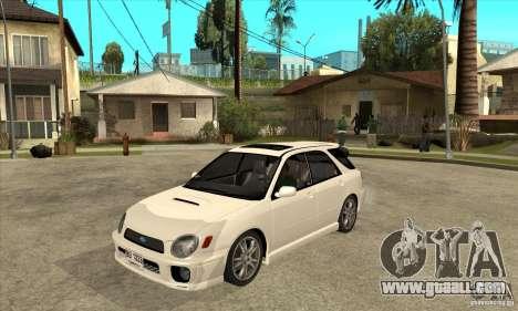 Subaru Impreza WRX Wagon 2002 for GTA San Andreas