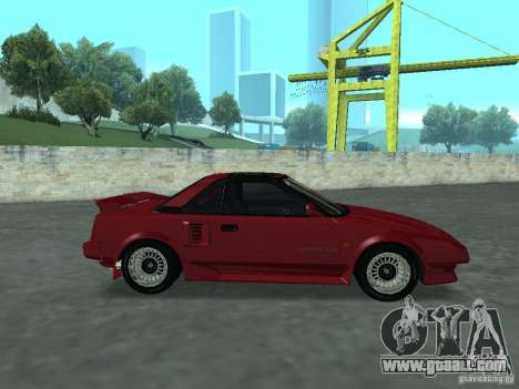 Toyota MR2 for GTA San Andreas back left view