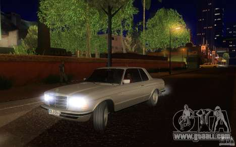 Mercedes Benz 280 CE W123 1986 for GTA San Andreas upper view