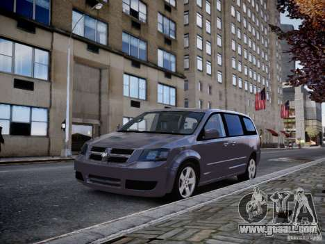 Dodge Grand Caravan SXT 2008 for GTA 4 back left view