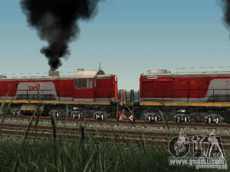 Tem2-6883 RZD for GTA San Andreas back view