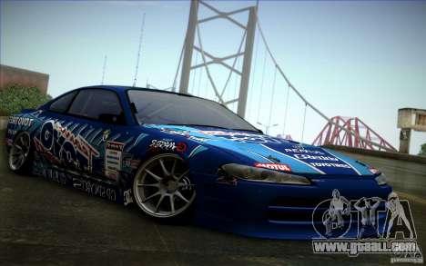 Nissa Silvia S15 Toyo for GTA San Andreas